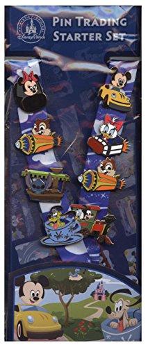 Disney Pin Starter Set - Baby Characters in Vehicles 2014 Pins & Lanyard - 100502 ()