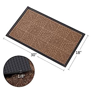 Outside Shoe Mat Rubber Doormat For Front Door 18u0026quot;x 30u0026quot; Outdoor  Mats Entrance