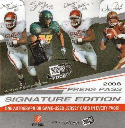 (1 (One) Box - 2008 Press Pass Signature Edition (SE) Football Hobby Box (12 Packs per Box) - Possible Matt Ryan, Matt Forte, Chris Johnson, Joe Flacco, DeSean Jackson, Darren McFadden, and/or Felix Jones Rookie Cards!!!!)