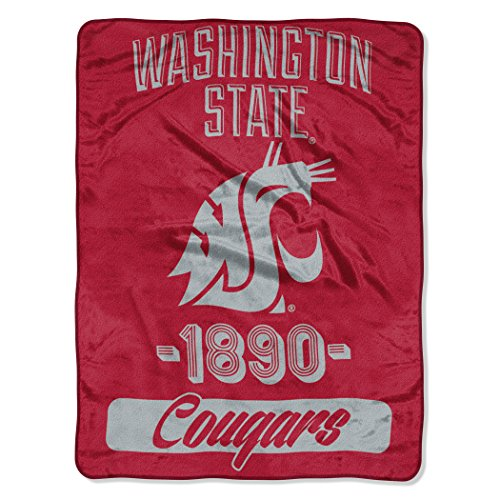The Northwest Company Officially Licensed NCAA Washington State Cougars Varsity Micro Raschel Throw Blanket, 46
