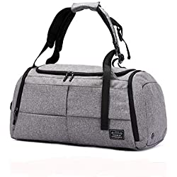 Sports Gym Bag 3 in 1 Shoulder Duffel Backpack Overnight Weekender Tote with Shoes Compartment Luggage Carry on Bag for Workout, Travel, Camping, Men, Women ...