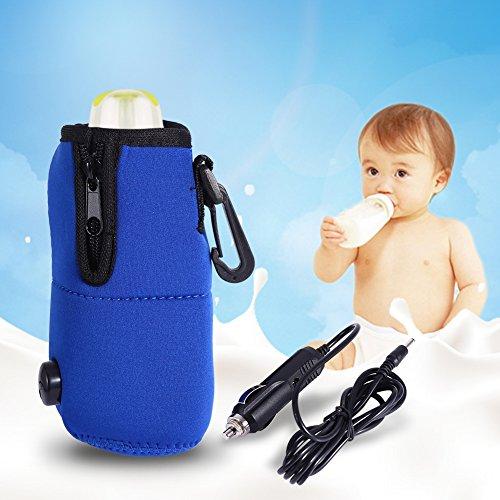 Travel Car Baby Bottle Warmer Milk Warmer Bag,Portable 12V Car Food Water Bottle Heater Warmer,Keep Temperature Bag by GLOGLOW (Image #8)