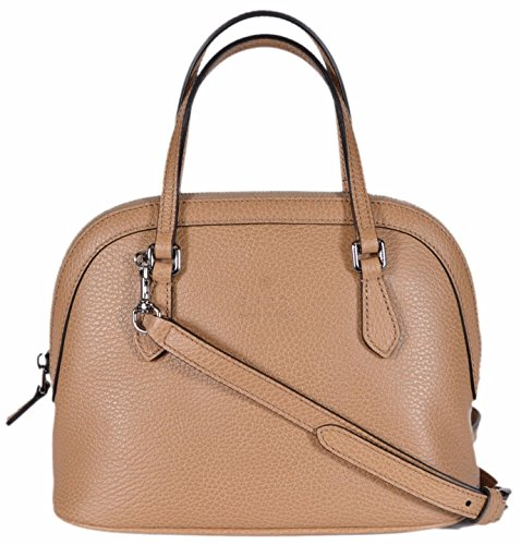 Gucci Women's Textured Leather Convertible Mini Dome Purse (Whisky Beige)