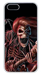 iPhone 5 5S Case Cool Skull 14 Funny Lovely Best Cool Customize iPhone 5S Cover White