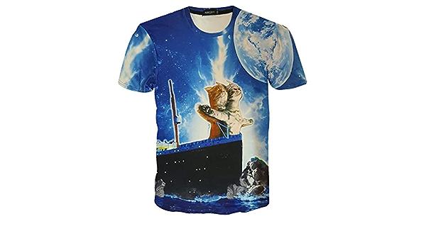 Camisetas Estampadas de Manga Corta con Estampado Casual en ...