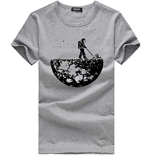 Manadlian Casual Sport shirt Unisex Vêtements Adult Été Impression Chemise Couple T Gris De Femme Tops Homme Blouses xA1qIXPIw