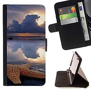 For LG G3 Case , Nubes dom Lluvia Mar Naturaleza- la tarjeta de Crédito Slots PU Funda de cuero Monedero caso cubierta de piel