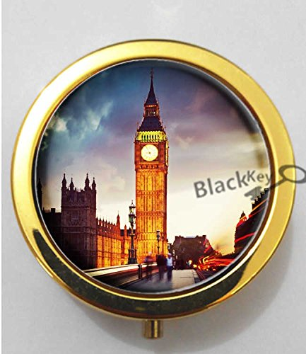 blackkey-london-big-ben-tower-3-compartment-decorative-pocket-gift-box-case-organizer-for-pill-color