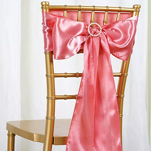 (Mikash 100/PK ~New~ Satin Chair Sash Bow Wedding Party Banquet 20+ Colors! | Model WDDNGDCRTN - 19714 |)