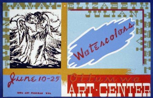 Photo Watercolors, Ottumwa Art Center 1936 Art Center Iowa