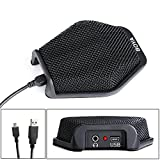 BOYA USB Condenser Table Top Desktop Computer Teleconference Conference Microphone Mic with Real-time Monitor 180 Degree 20' Pickup Range for Windows Mac Laptop for Business Meeting Seminar Speech