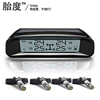 Tydo Solar Powered TPMS Wireless Tire Pressure Monitoring System 4 Sensors DIY Tire Gauge With Auto Alarm System Real-time Displays for RV Trailer