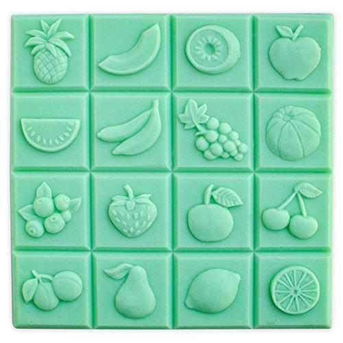 Fruit Guest Soap Mold Tray - Makes 2 oz Bars. Milky Way. Melt & Pour, Cold Process