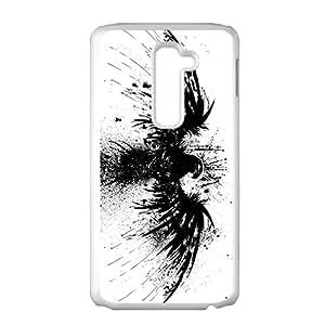 Skull Art Fantasy Head Bird White Phone Case For LG G2