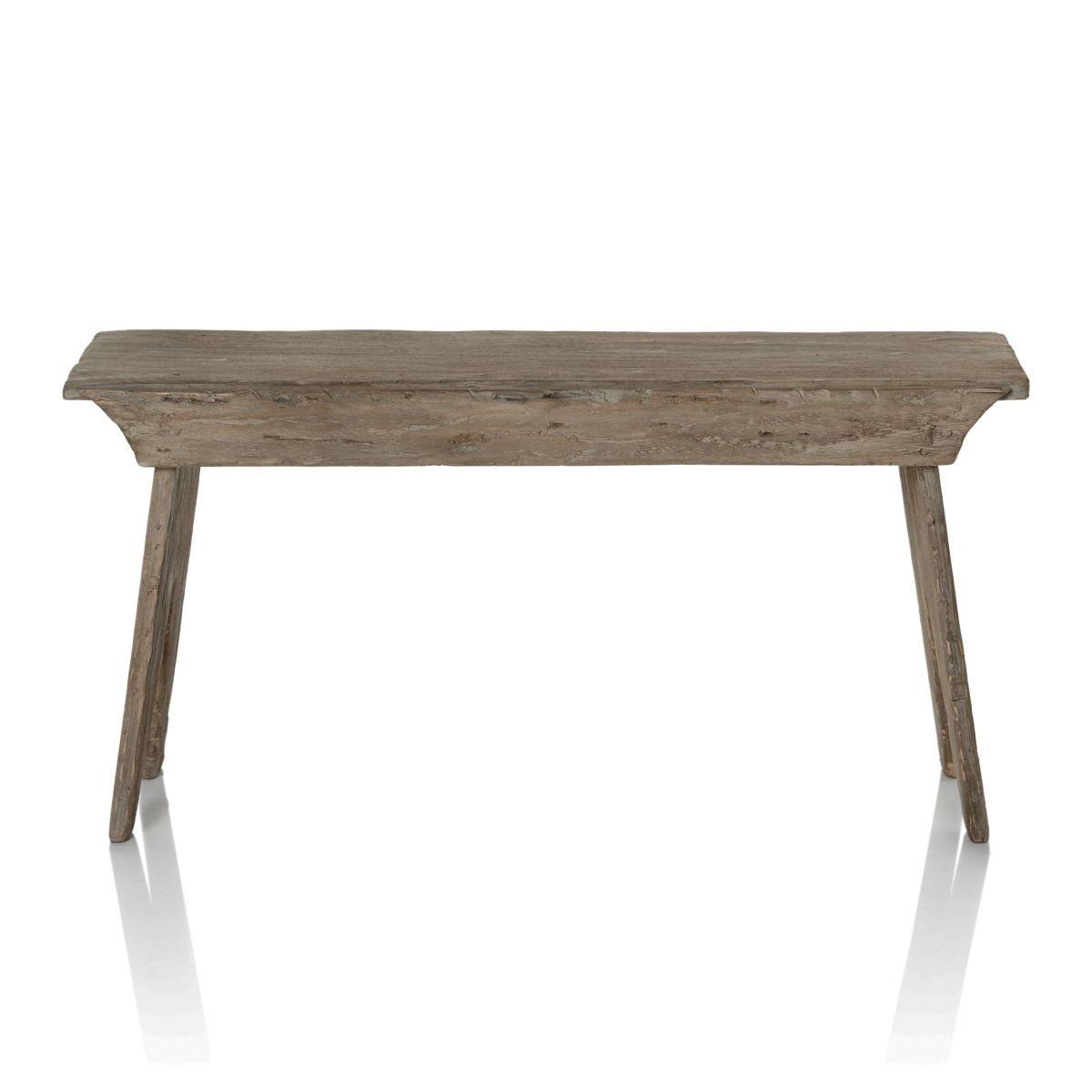IMPRESSIONEN living Bank - Rustikal - Sitzbank aus recyceltem Holz - ca. B90 x H44 x T29 cm