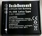 1000 ah battery - Hahnel HL-008 Lithium Ion Rechargeable Battery 3.6V 1000Ah (Leica BP-DC6)