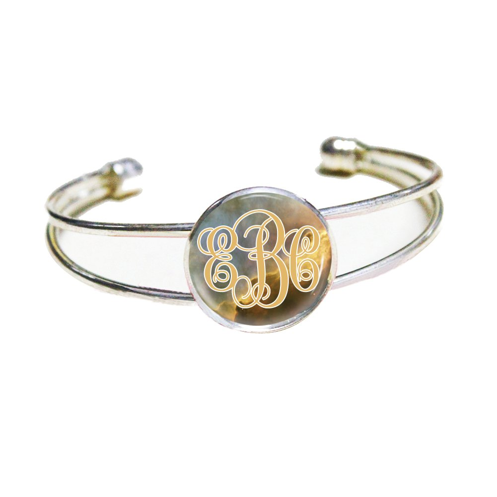 Personalized Bangle Bracelet Custom Name Jewelry Charm Bracelet