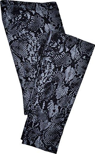(HUE Women's Python Print Cotton Leggings Black Small 4-6)