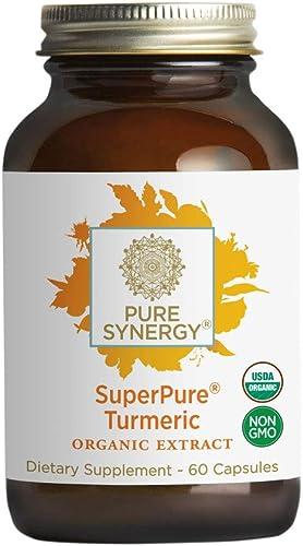 Pure Synergy USDA Organic SuperPure Turmeric Extract 60 Capsules Triple Extract w Curcumin, Turmerones