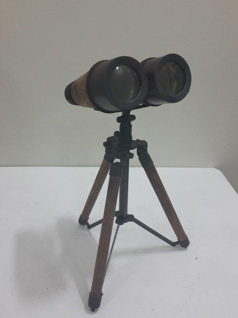 THORINSTRUMENTS (with device) ANTIQUE Table Binocular Tripod Vintage Binocular with tripod