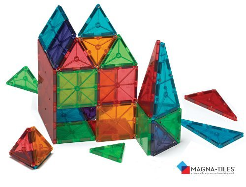 Magna-Tiles Clear Colors 100 Piece Set by Valtech Company (Image #6)