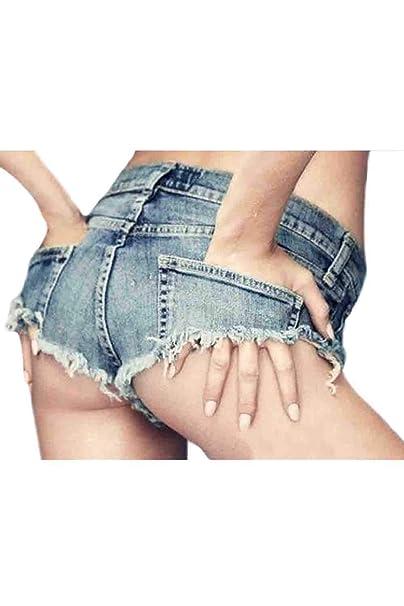 Pantalones Vaqueros Casuales De Las Mujeres Cut Off Bodycon ...