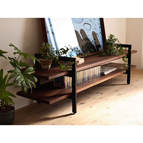 WGX 50'' Industrial Solid Wood TV Stand Console/Coffee Table,Reclaimed Wood Ladder Bookcase shelves