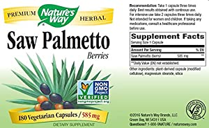 Nature's Way Saw Palmetto Berries, 585mg, 180 Capsules