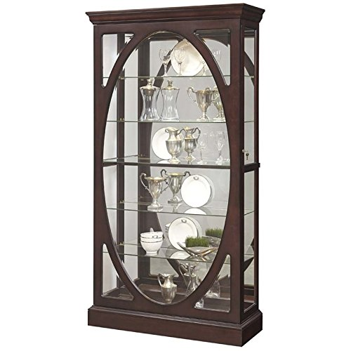 Pulaski  Sable Oval Framed Mirrored Curio Cabinet 43.0'' x 15.1'' x 80.0'' by Pulaski (Image #1)