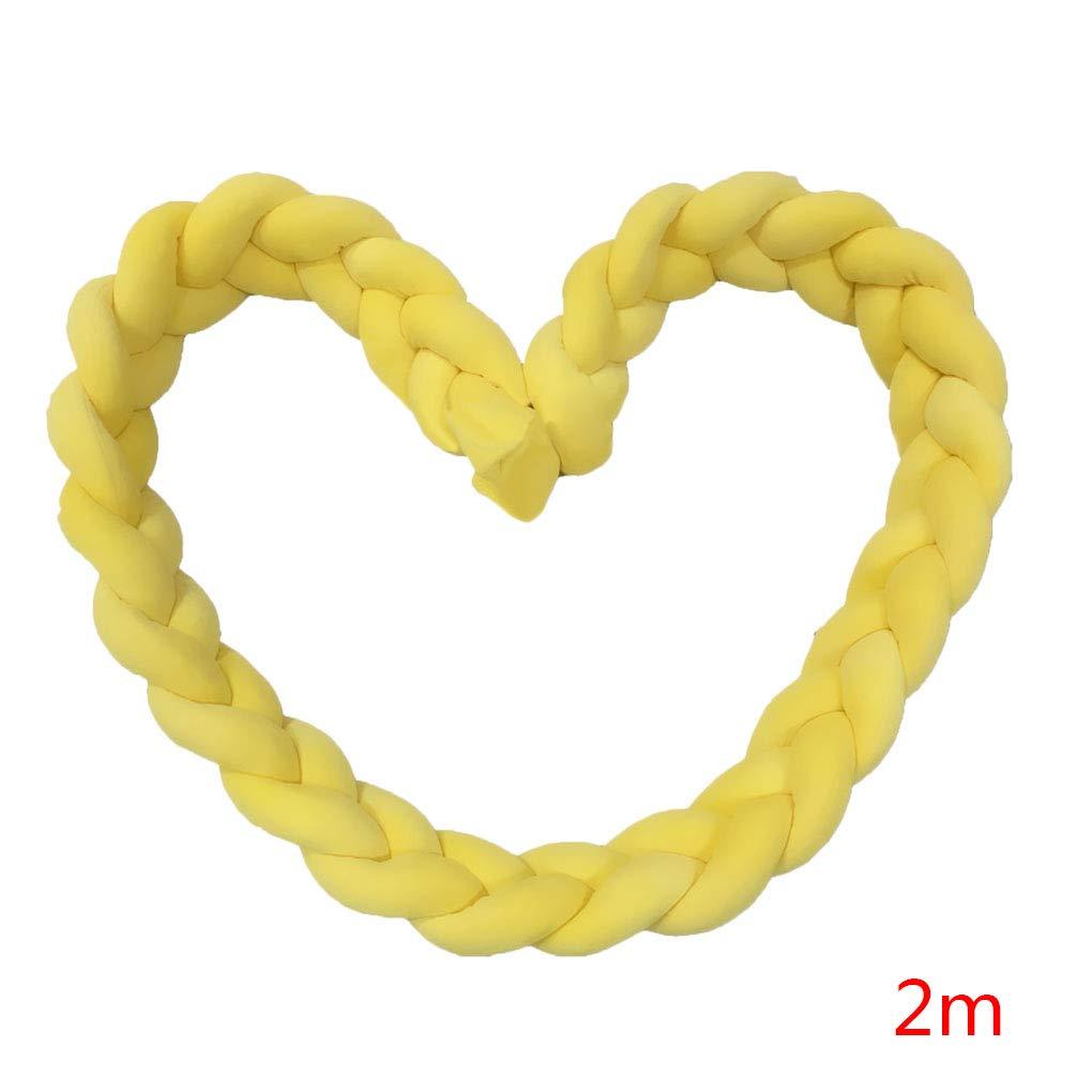 Lit b/éb/é Tress/é Pare-Chocs Twisted Lit Circumference Knot Stripe Coussin Longue Nursery Coussin Literie