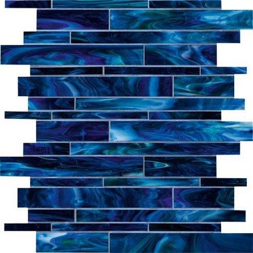 Marazzi Catwalk Mesh Mounted Glass Mosaic, Blue Ballet