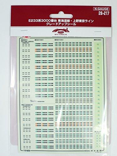 [Nゲージ]ラウンドハウス/KATO 28-217 E233系3000番 東海道線・上野東京ライン グレードアップシール