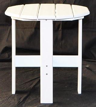 Jayhawk plastiques Table d\'appoint Plastique recyclé blanc: Amazon ...