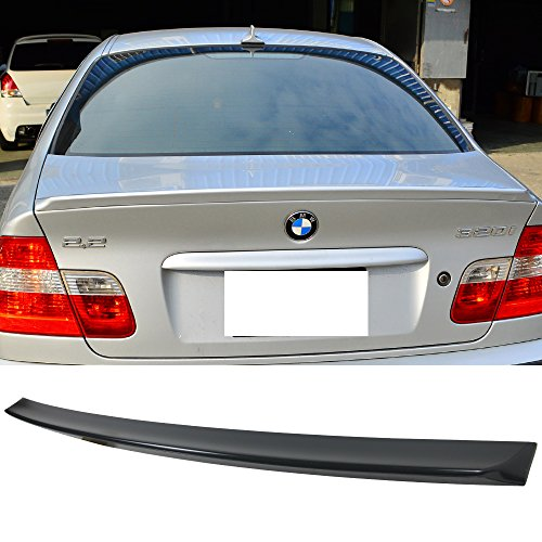 Trunk Spoiler Fits 1999-2005 BMW 3 Series E46 4Dr | AC Style ABS Rear Deck Lip Wing Bodykits by IKON MOTORSPORTS | 2000 2001 2002 2003 2004