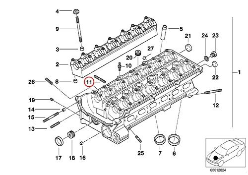 16 X BMW Genuine Cylinder Head Exhaust Port Stud Bolt 7 X 39 mm E39 E46 E53 E60 525i 528i 530i 320i 323Ci 323i 325Ci 325i 325xi 328Ci 328i 330Ci 330i 330xi X5 3.0i 525i 530i X3 2.5i X3 3.0i Z4 2.5i Z4 3.0i Z3 2.5 Z3 2.5i Z3 2.8 Z3 3.0i