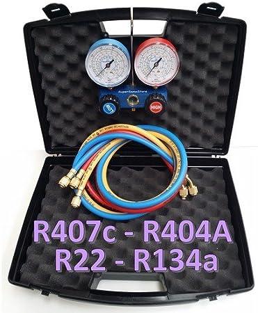 "Coffret complet manifold 2 voies complet /""Value/"" R22 R134a R404A R407C"