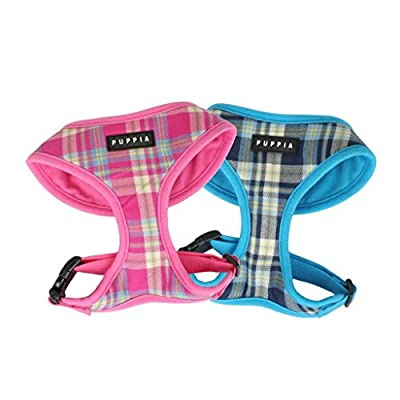 Puppia Soft Dog Harness Spring Pink Medium