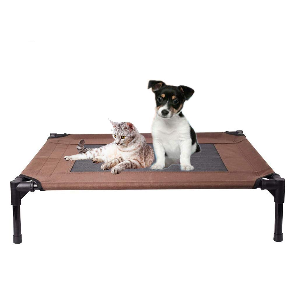 Brown S Brown S Elevated Pet Bed,Elevated Raised Metal Frame Dog Bed,Play Rest Bed,Brown,S