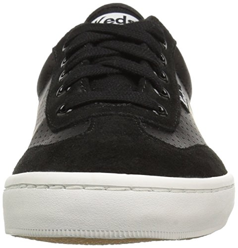 Keds Womens Tournament Retro Court Perf Leather Fashion Sneaker Black nX62T03g