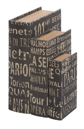 Deco 79 Faux Book Boxes European Landmarks by Deco 79