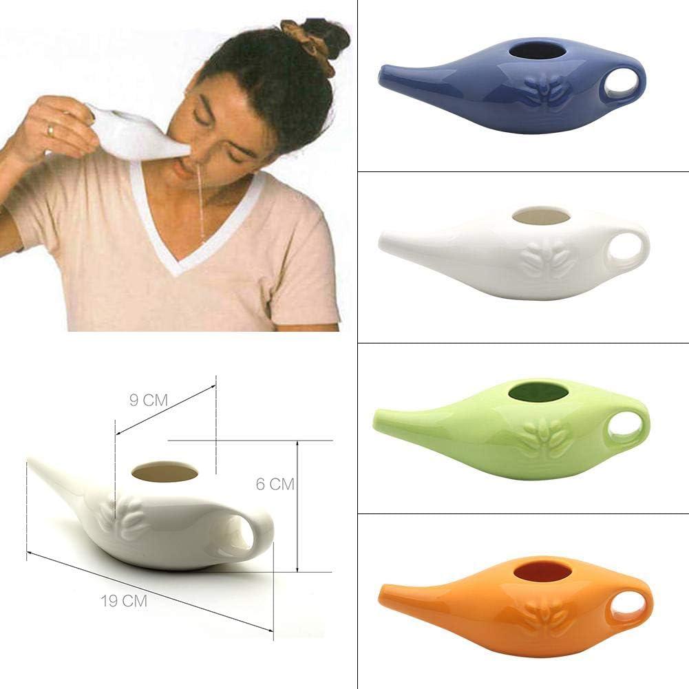 Mekta Yoga Professionnel Rin/çage nasal 250 ml C/éramique Neti Pot de Nez Confortable Bec pour le nettoyage du nez