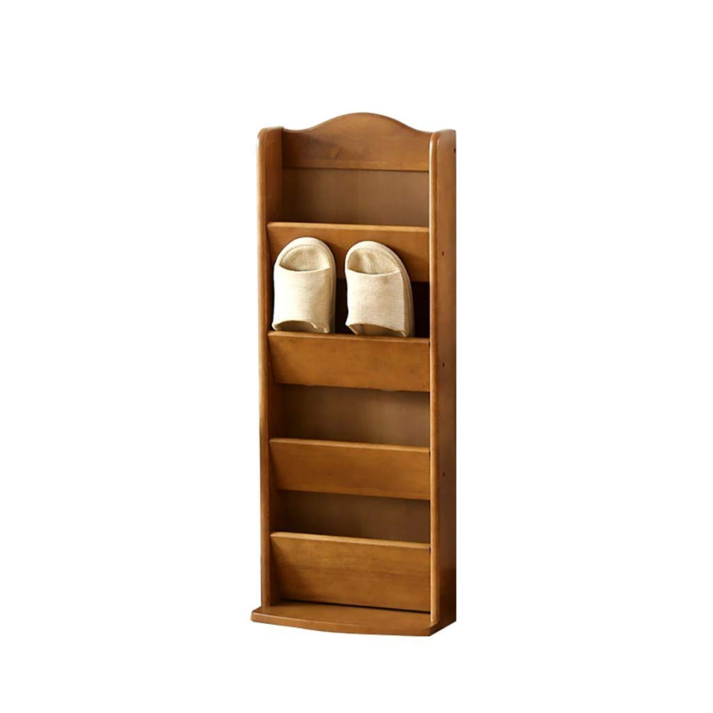 RMXMY Modern Minimalist Creative Wooden Household Multi-Layer Solid Wood Shoes Shelf Multi-Layer Storage Rack Solid Wood Sandals and Slippers (Color : A)