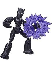 Marvel Avengers Bend and Flex-actiefiguur, flexibele Black Panther-figuur van 15 cm, met blastaccessoire, voor kinderen vanaf 6 jaar