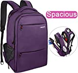 LAPACKER 15.6-17 inch Water Resistant Business Computer Backpacks for Women Mens Laptop Travel Bag Lightweight College students Notebook Laptop Backpack - Purple