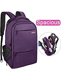 Slim Business Laptop Backpack: Unisex, Advanced Design with Lots of Pockets, Professional Quality, Waterproof, Stylish and Lightweight (Purple-17inch)
