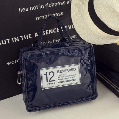 LULANTravel Kosmetik Zulassung Paket wasserdichten Kulturbeutel Süße, Make-up Tasche Tragetasche, 21 * 11 * 17 cm, Hocker klein Dunkelblau