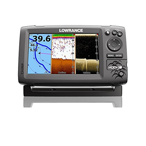 Lowrance Hook-7 Sonar/GPS Mid/High/Downscan Navionics+ Fishfinder Fish Finders And Other Electronics Pro-Motion Distributing - Direct