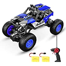 SPESXFUN Remote Control Car, Newest RC Car Off Road RC Truck Hobby Toy Cars Small Electric Vehicle Crawler for Kids & Adults with Two Batteries