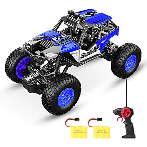 SPESXFUN Remote Control Car, Newest Vision RC Car Off Road RC Truck Hobby Toy Cars Small Electric Vehicle Crawler for Kids and Adults with Two Batteries