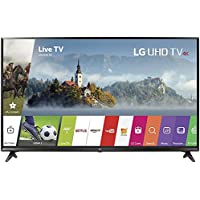 LG 49 Super UHD 4K HDR Smart LED TV 2017 Model (49UJ6300) with 2x 6ft High Speed HDMI Cable, Transformer Tap USB, Universal Screen Cleaner for LED TVs & 1 Year Extended Warranty for Products